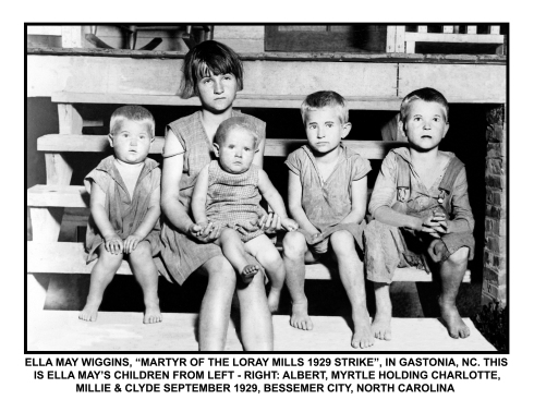 Ella May's orphaned children. Left to right: Albert, 3; Myrtle, 11; Chalady, 13 months; Clyde, 8; Millie, 6. Courtesy of the Millican Pictorial History Museum.