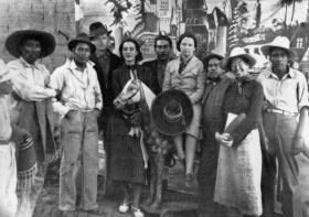 Mexico, Summer 1938. Myra Page is on the burro. Katharine is to her left. Courtesy of May Kanfer.
