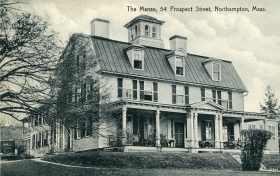 The Manse, an historic home built c. 1744 and purchased by Dorothy Wolff Douglas in 1940. She and Katharine lived and worked there until the late 1950s, providing rooms and apartments for many others during the housing shortage following World War II. Courtesy of Kate Douglas Torrey.