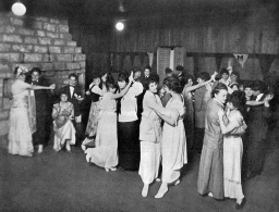 Annual sophomore/senior Valentine's dance at Brenau College, organized by Katharine Du Pre Lumpkin as president of the sophomore class. Photograph is from the 1915 student yearbook, Bubbles. Courtesy of Brenau University, Gainesville, Georgia.