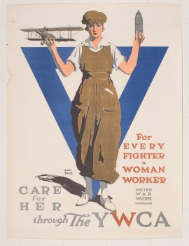 YWCA World War I poster. Courtesy of Robert D. Farber University Archives & Special Collections Department, Brandeis University.
